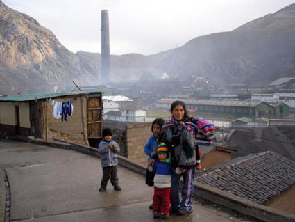 La población de La Oroya se opone al complejo minero.