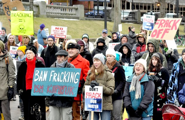 Manifestación contra el 'fracking' en EE.UU.